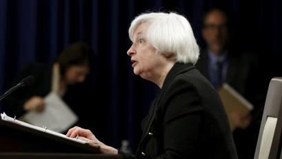 Federal Reserve Chair Janet Yellen holds a news conference following the Federal Open Market Committee September meeting.