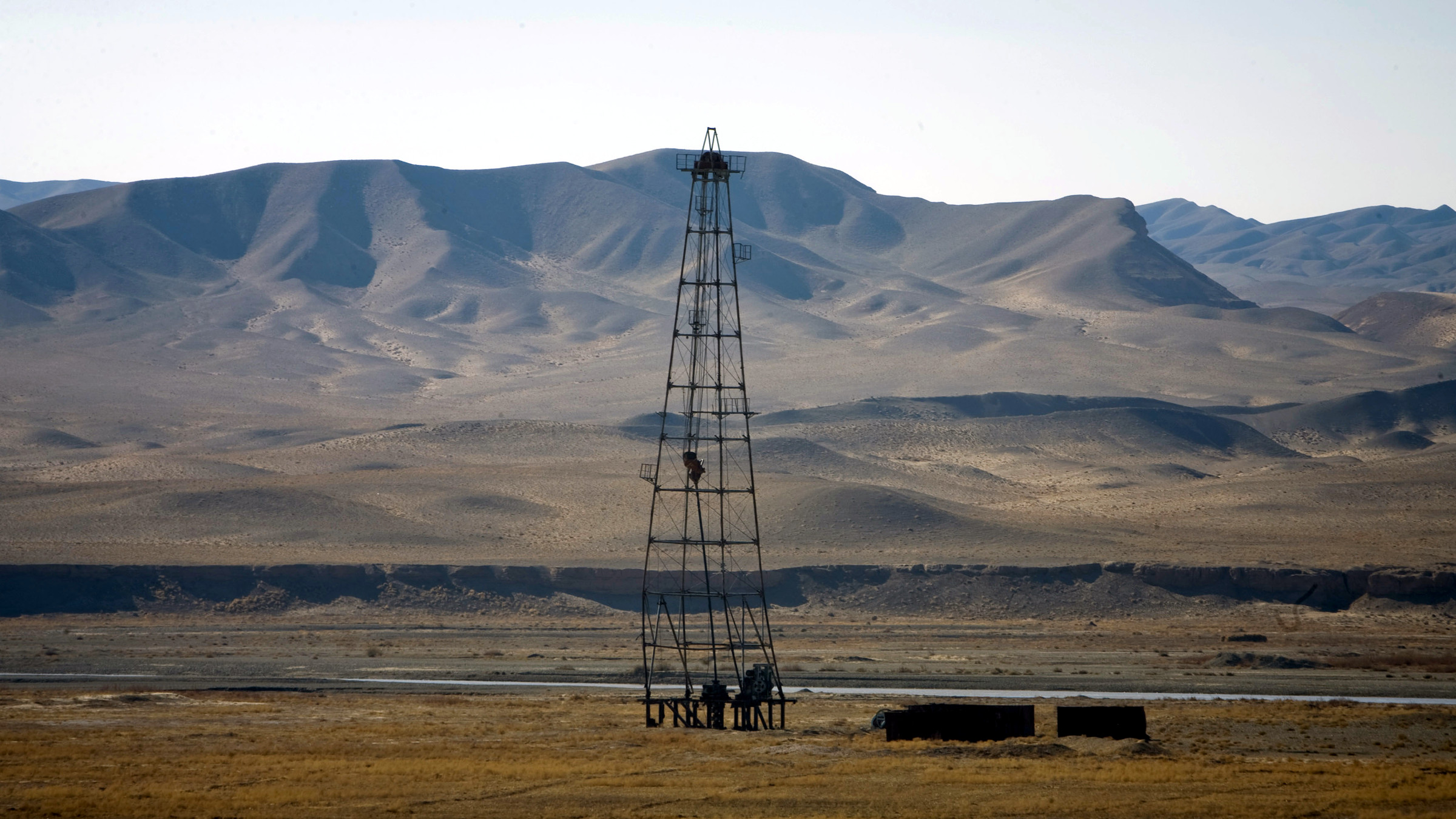 An oil installation is seen in an area near Herat December 17, 2009.