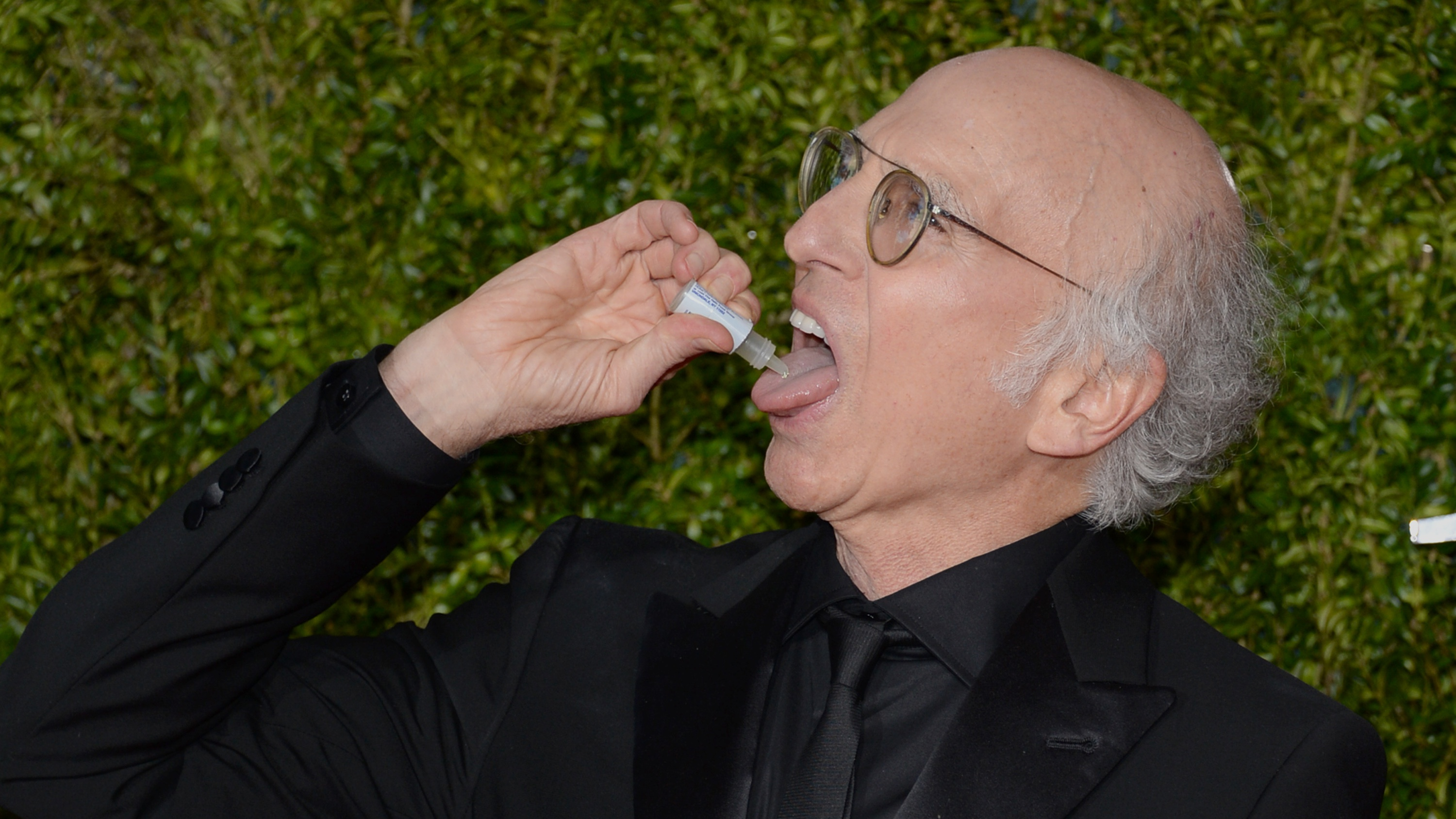 Larry David arrives at the 69th annual Tony Awards at Radio City Music Hall on Sunday, June 7, 2015, in New York.