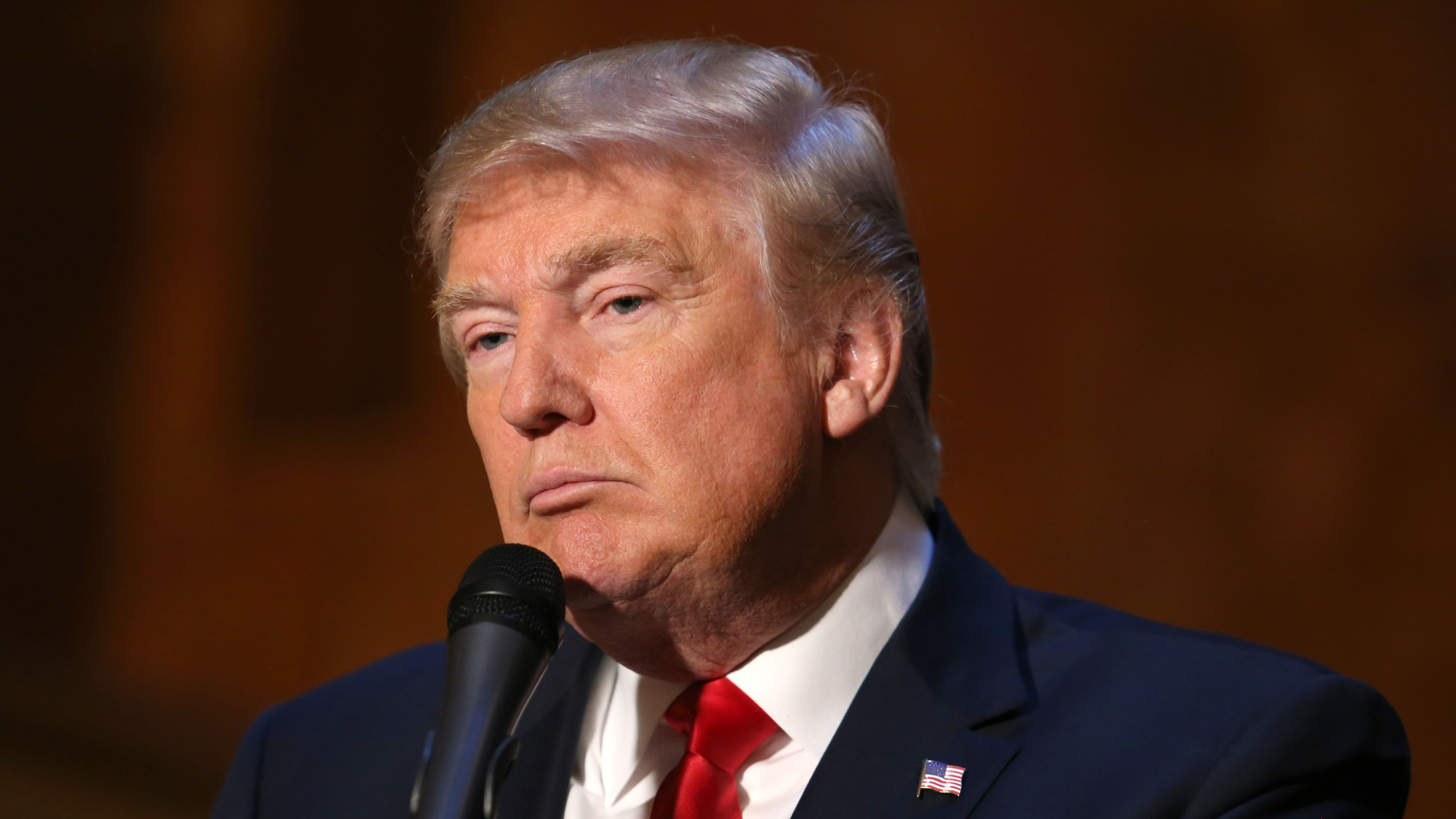 Businessman and Republican presidential candidate Donald Trump speaks during a press conference at Trump Tower on Tuesday, Nov. 3, 2015, in New York.