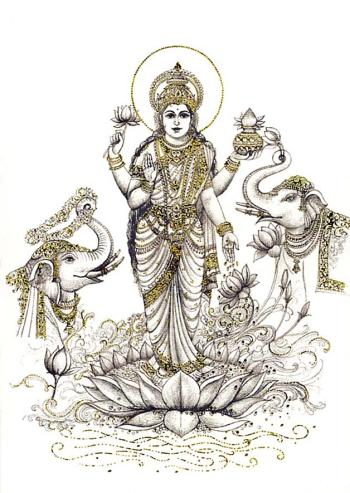 The ancient story of goddess Lakshmi—bestower of power, wealth and