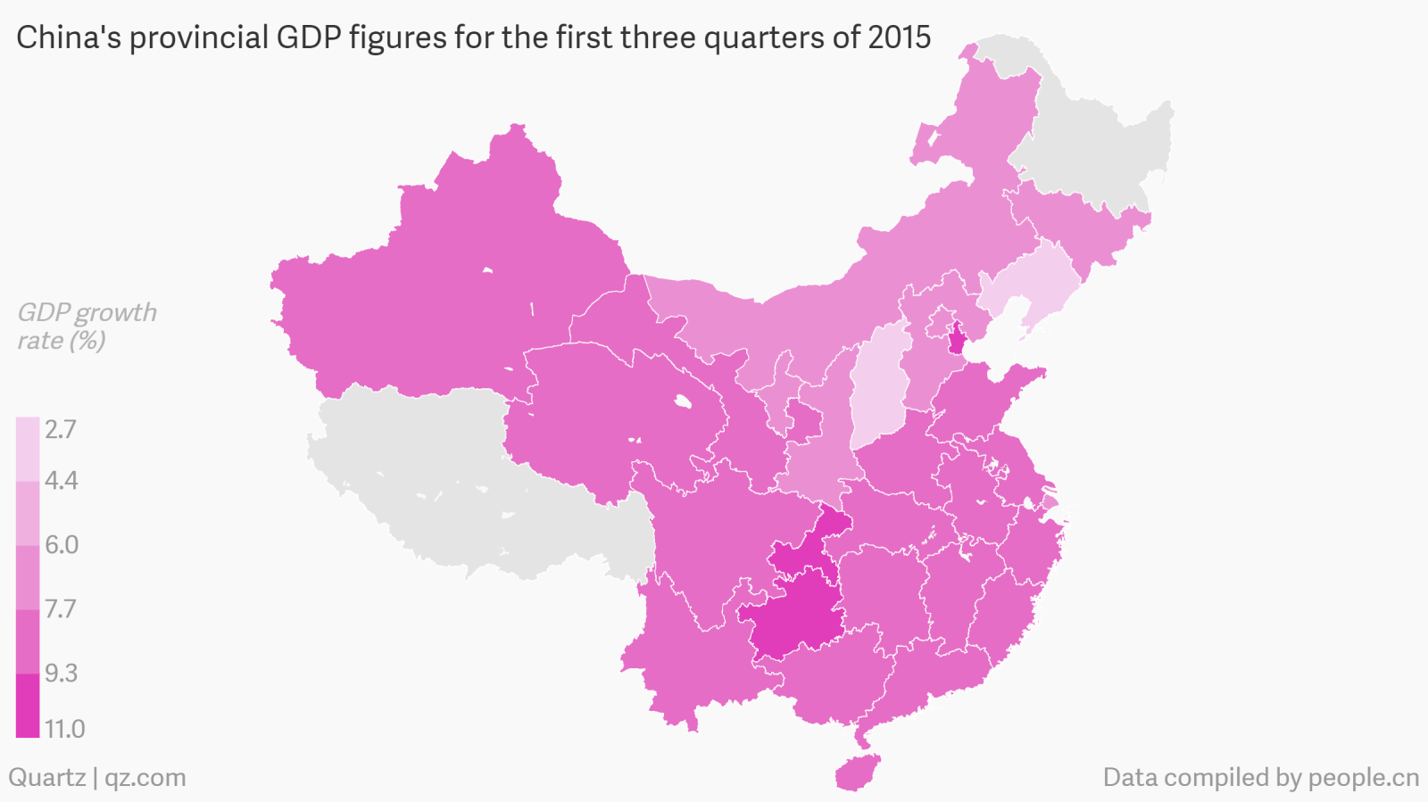 Mapped where chinas economic slowdown is hitting the hardest quartz nvjuhfo Gallery
