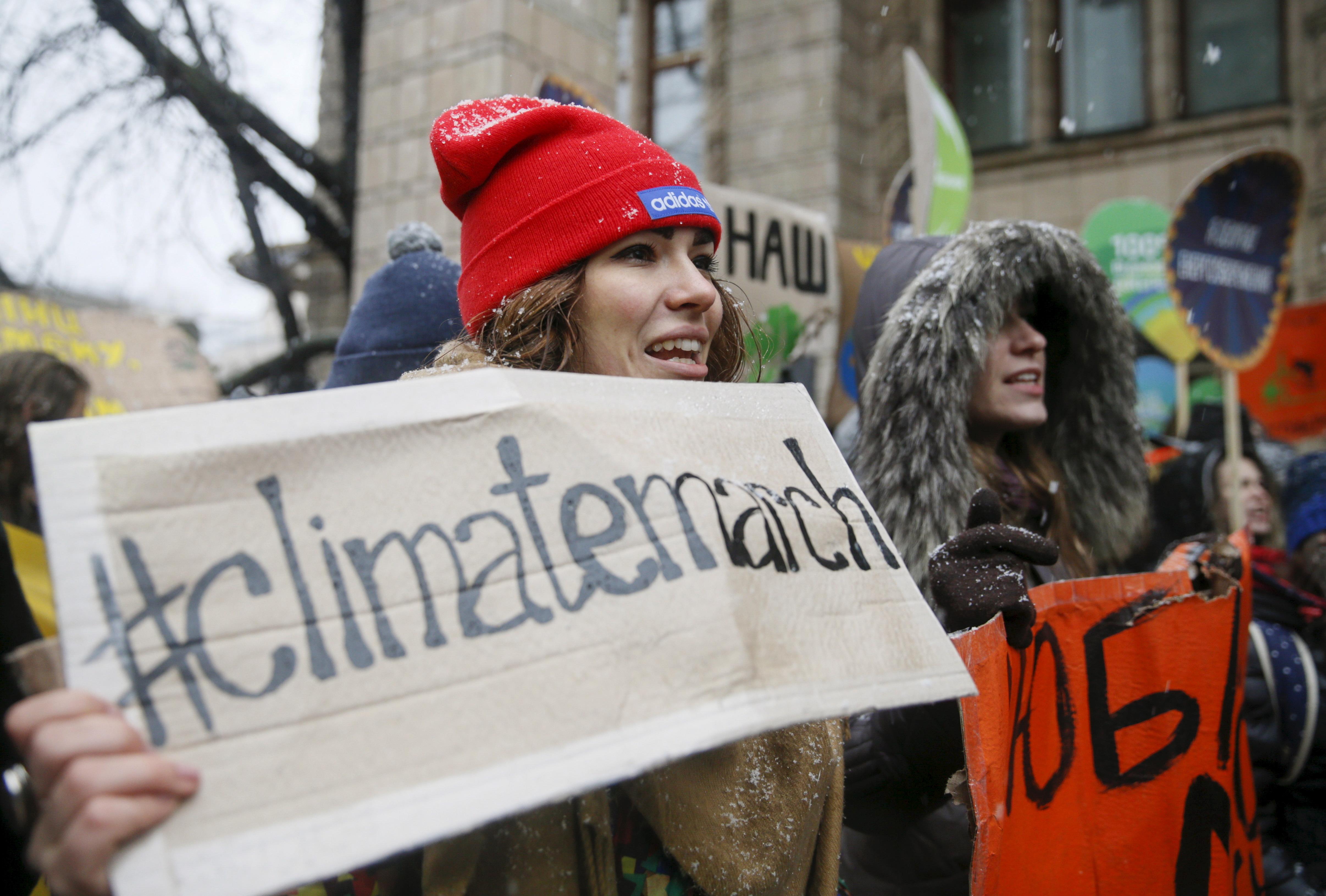 Climate protesters in Kiev.