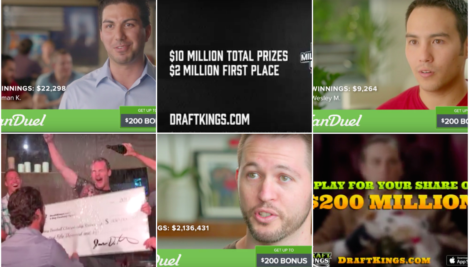 Big winnings, paid by bigger losers.