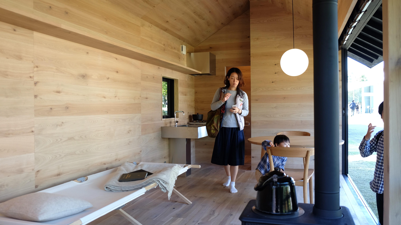 Inside Naoto Fukasawa's wooden hut