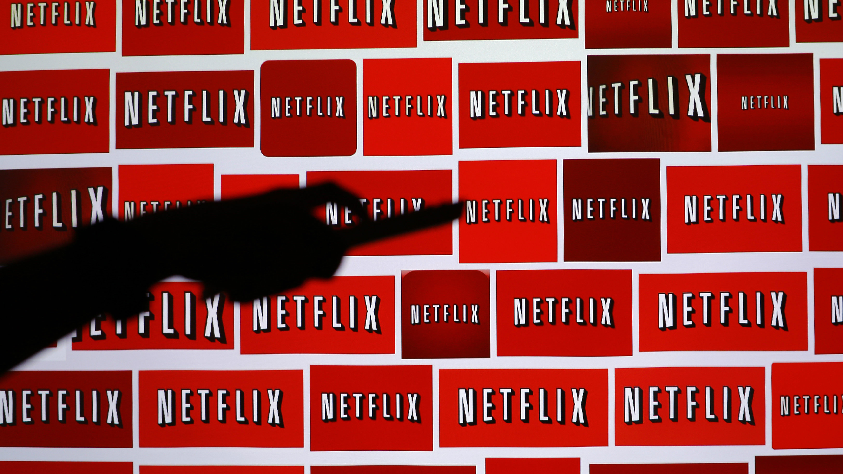 The Netflix logo is shown in this illustration photograph in Encinitas, California October 14, 2014. Netflix Inc shares were down 3.1 percent at $435.28 after the announcement. The streaming video company will announced its quarterly results later on October 15. Picture taken October 14, 2014.