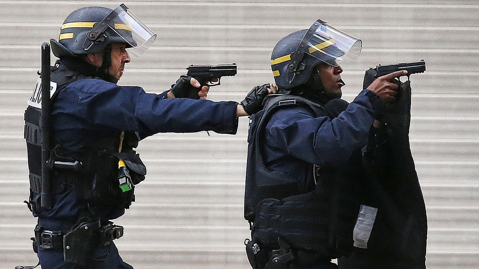 Police in St Denis.