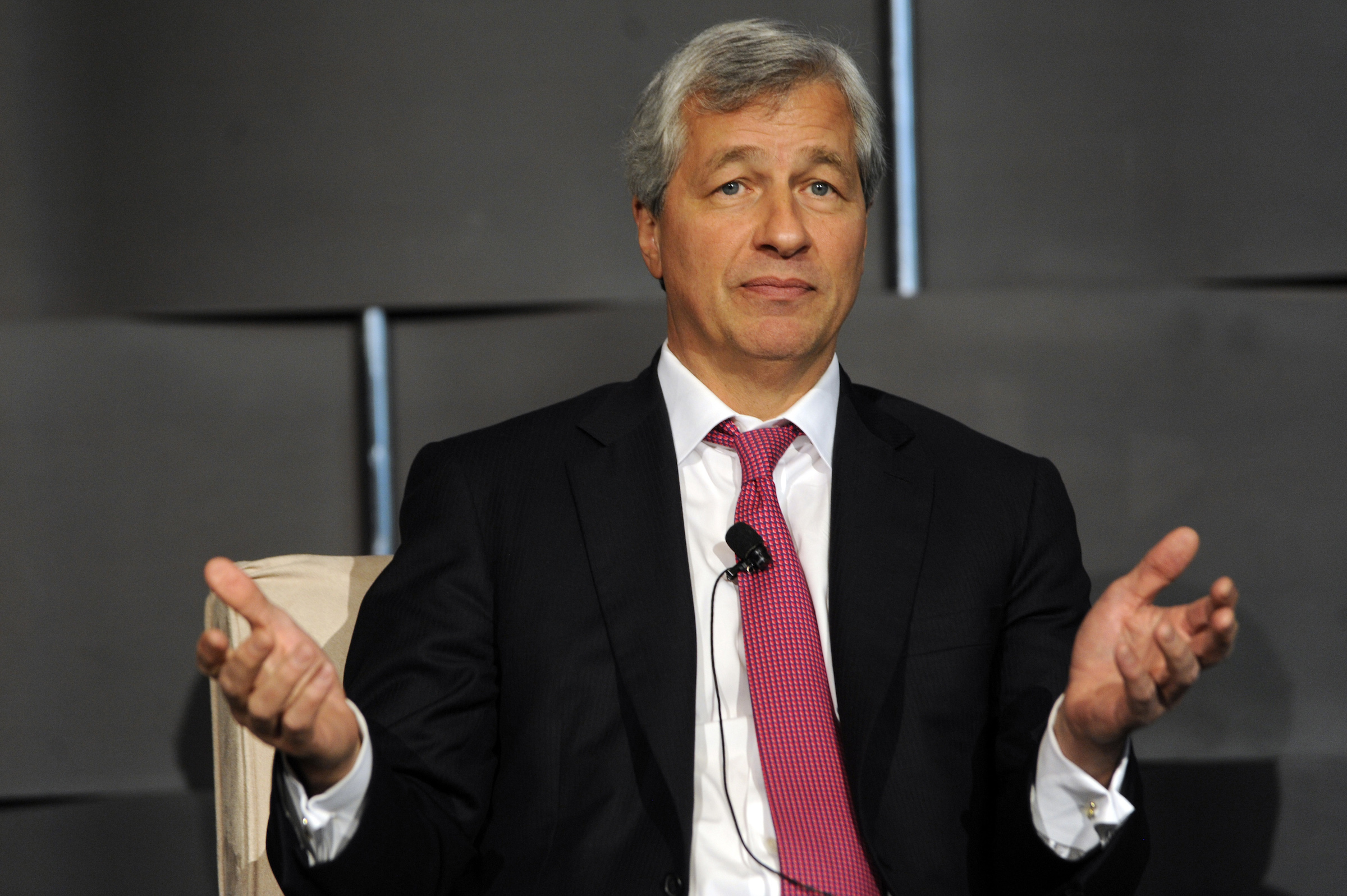 Jamie  Dimon, chairman and chief executive of JP Morgan Chase and Co, speaks at the 2012 Simon Graduate School of Business' New York City Conference in New York May 3, 2012