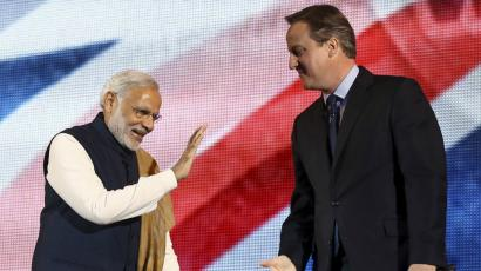 Narendra Modi-David Cameron-Wembley-Modi at Wembley