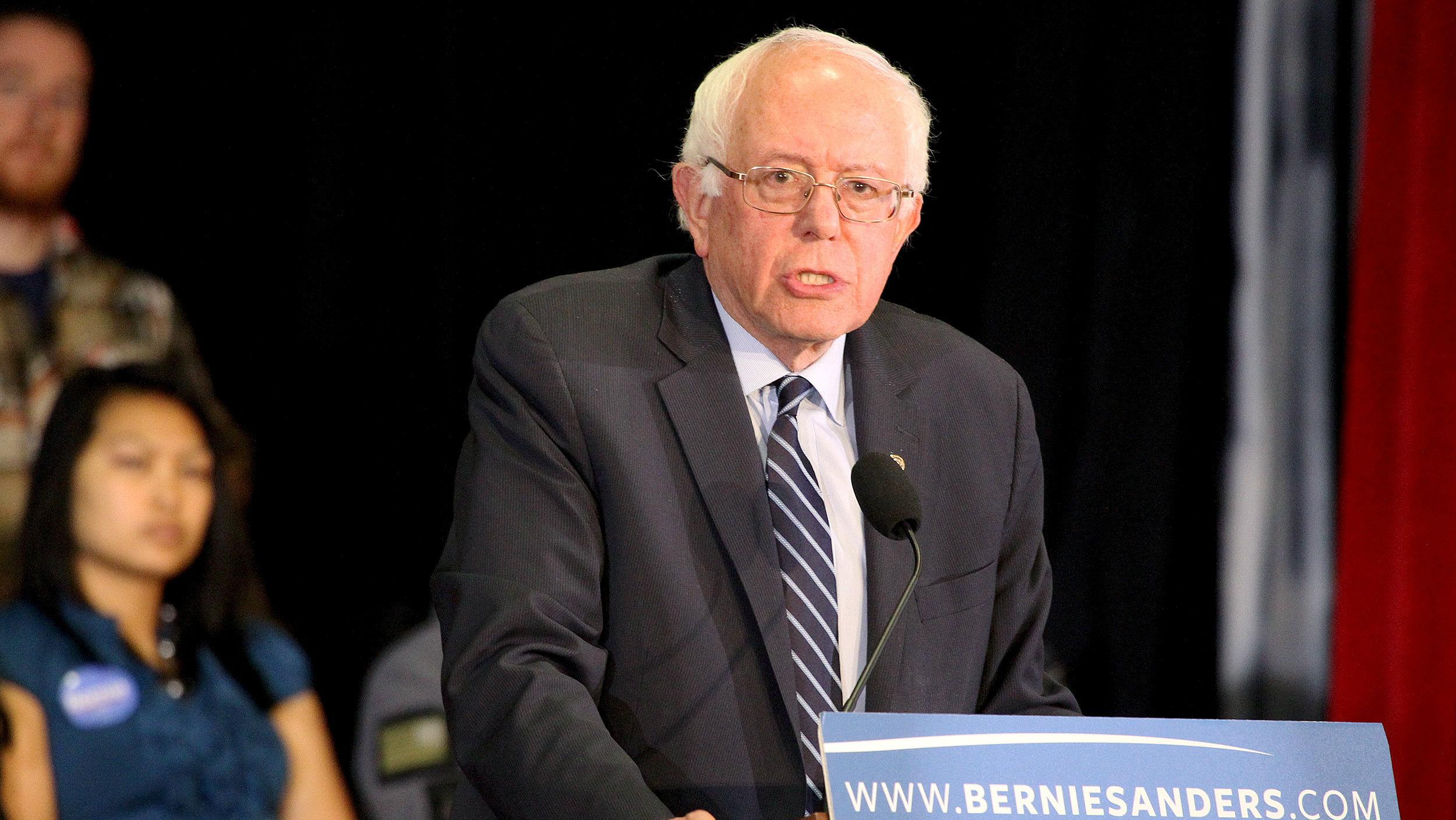 U.S. Democratic presidential candidate and U.S. Senator Sanders.