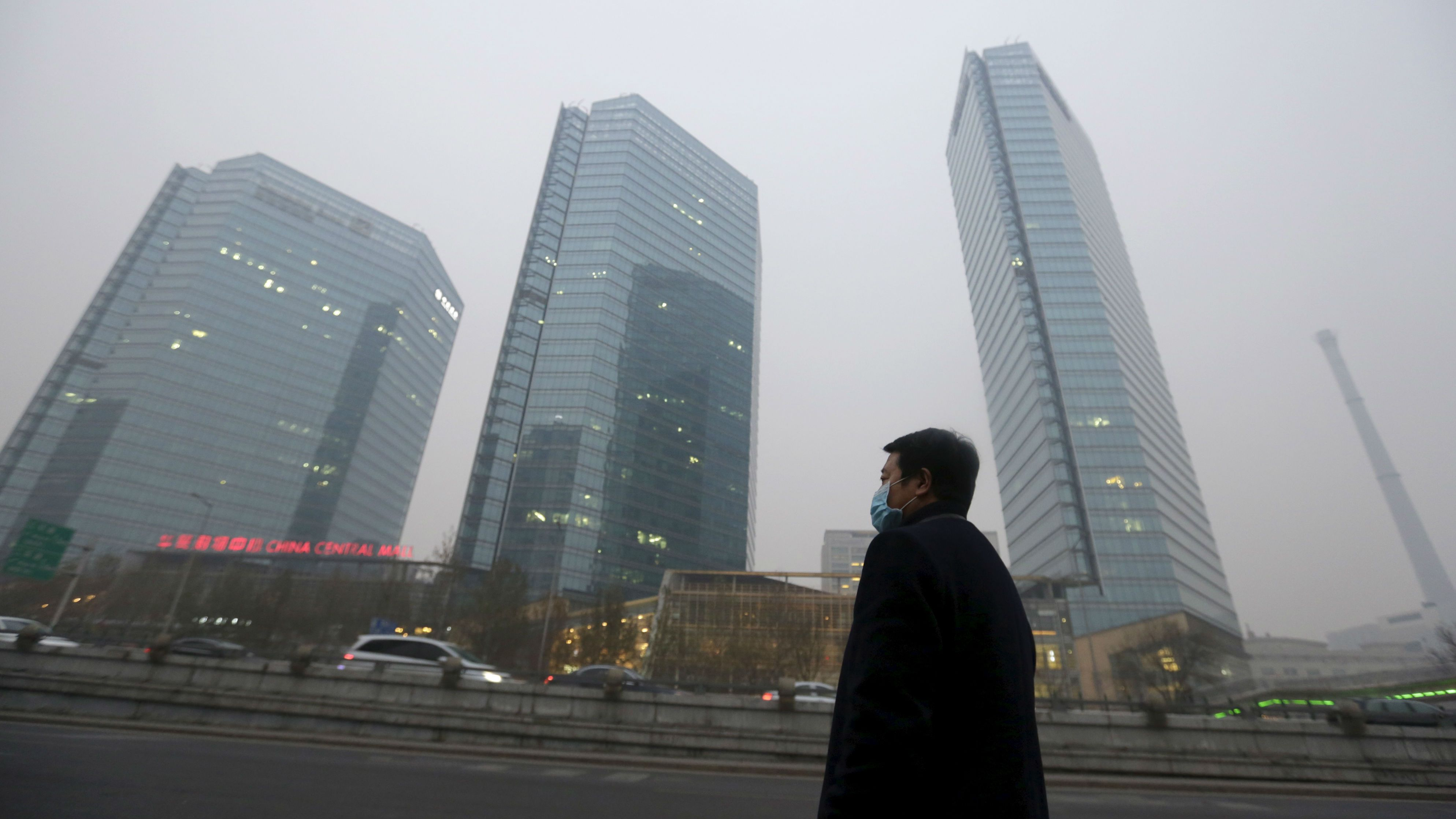 China has earned a giant solar-powered smog cleaner