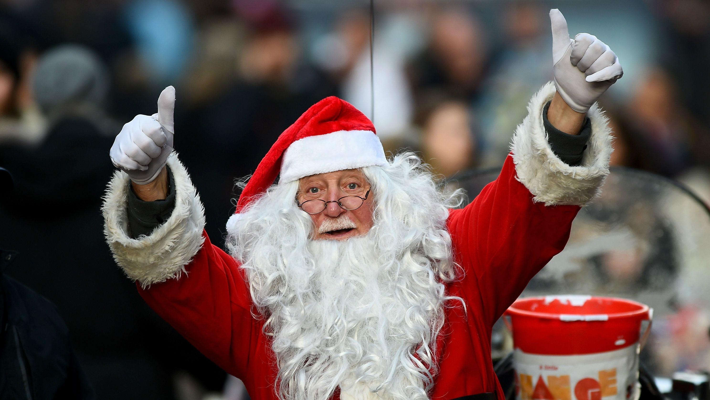 christmas, holiday spending, santa claus, shopping