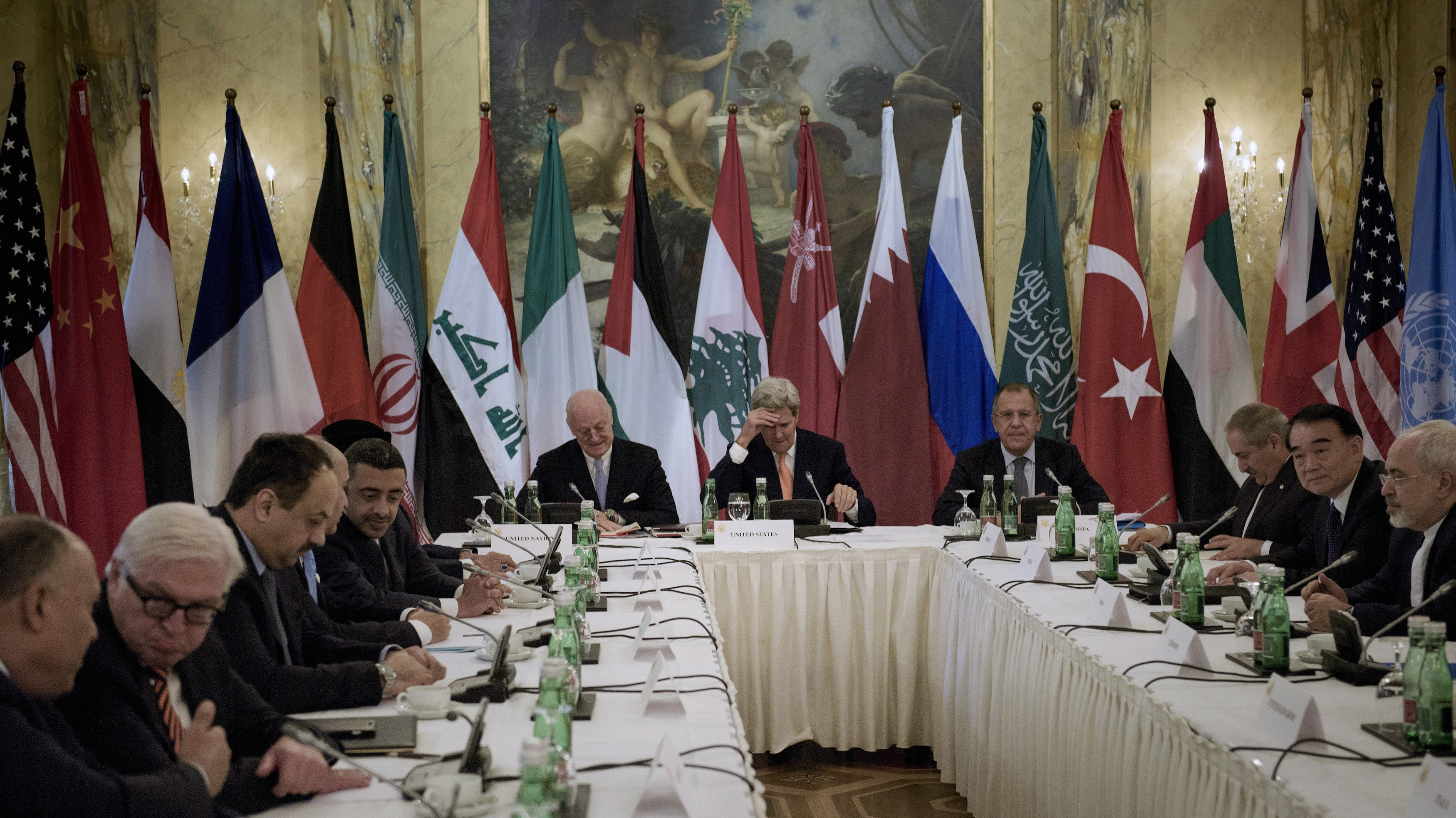 World powers and delegates from across the Arab world meet in Vienna, Austria, to discuss peace in war torn Syria.