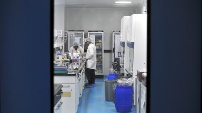 Employees of Biocon Ltd work inside the company's research and development centre in Bengaluru, India, October 16, 2015. India, which has dominated the generic drugs industry for decades, is falling behind in the race to make copies of complex biotech drugs, which are expected to generate tens of billions of dollars in sales in the coming years.