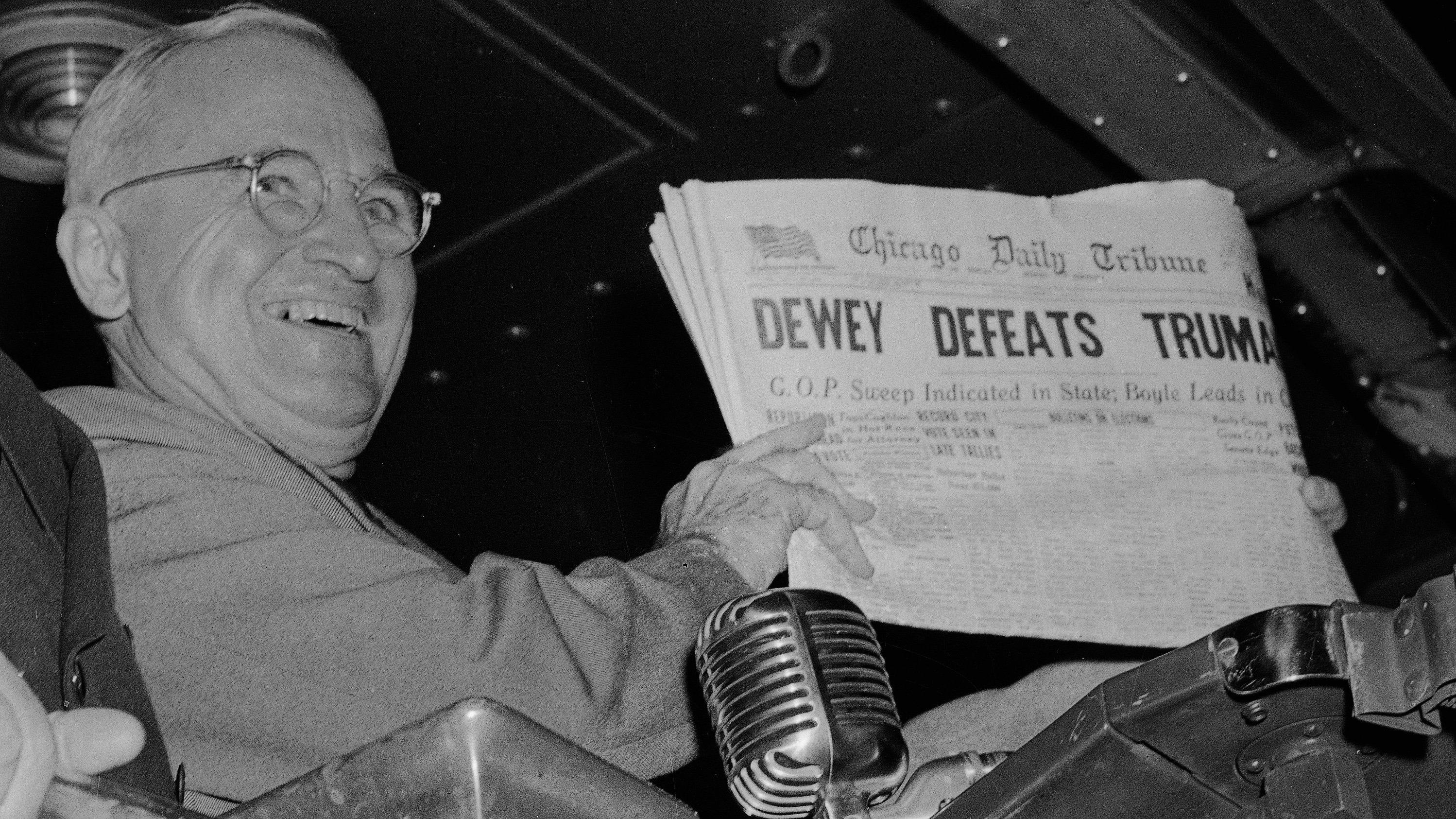 Truman in 1948: bad polling isn't new.