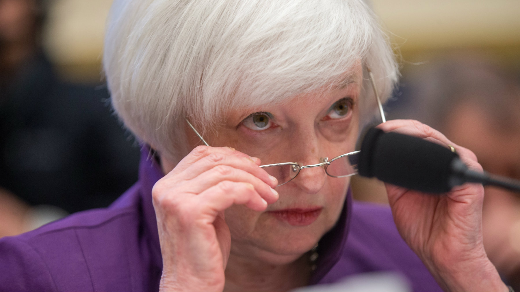 Federal Reserve Chair Janet Yellen testifies on Capitol Hill in Washington, DC.