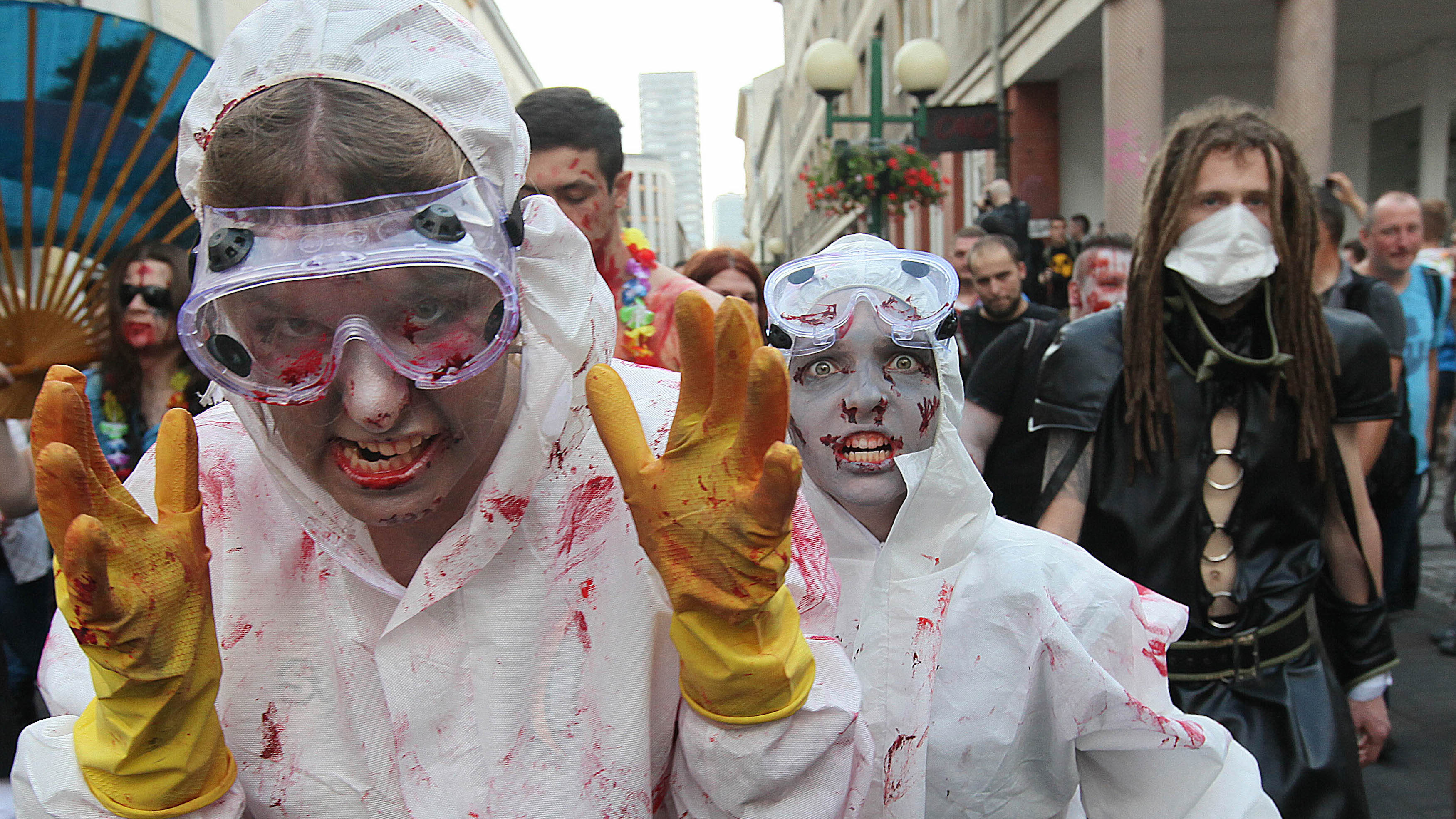 These hazmat suits really didn't help much.