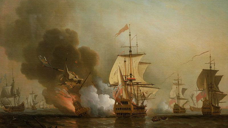 Action off Cartagena, featuring the San Jose, by Samuel Scott.