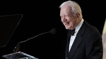 Jimmy Carter speaks during the 53rd Annual ASCAP Country Music Awards at the Omni Hotel on Monday, Nov. 2, 2015 in Nashville,Tenn.