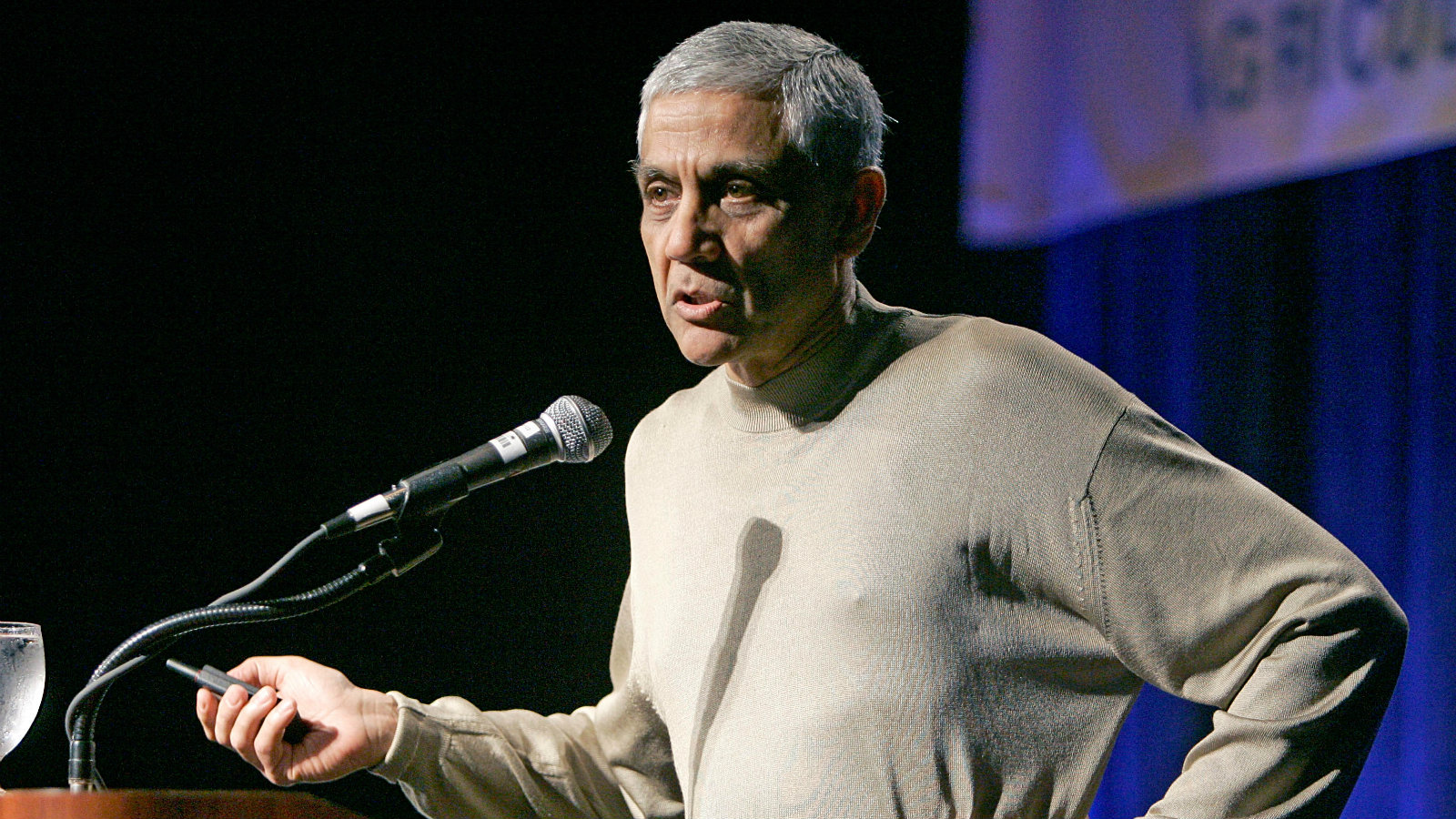 Vinod Khosla speaks about fuels of the future at a Bio Tech conference in Lake Buena Vista, Fla., Wednesday, March 21, 2007. Khosla, Sun Microsystems founder and venture capitalist has invested many millions of dollars in biotech companies and others pursuing alternative fuel strategies.