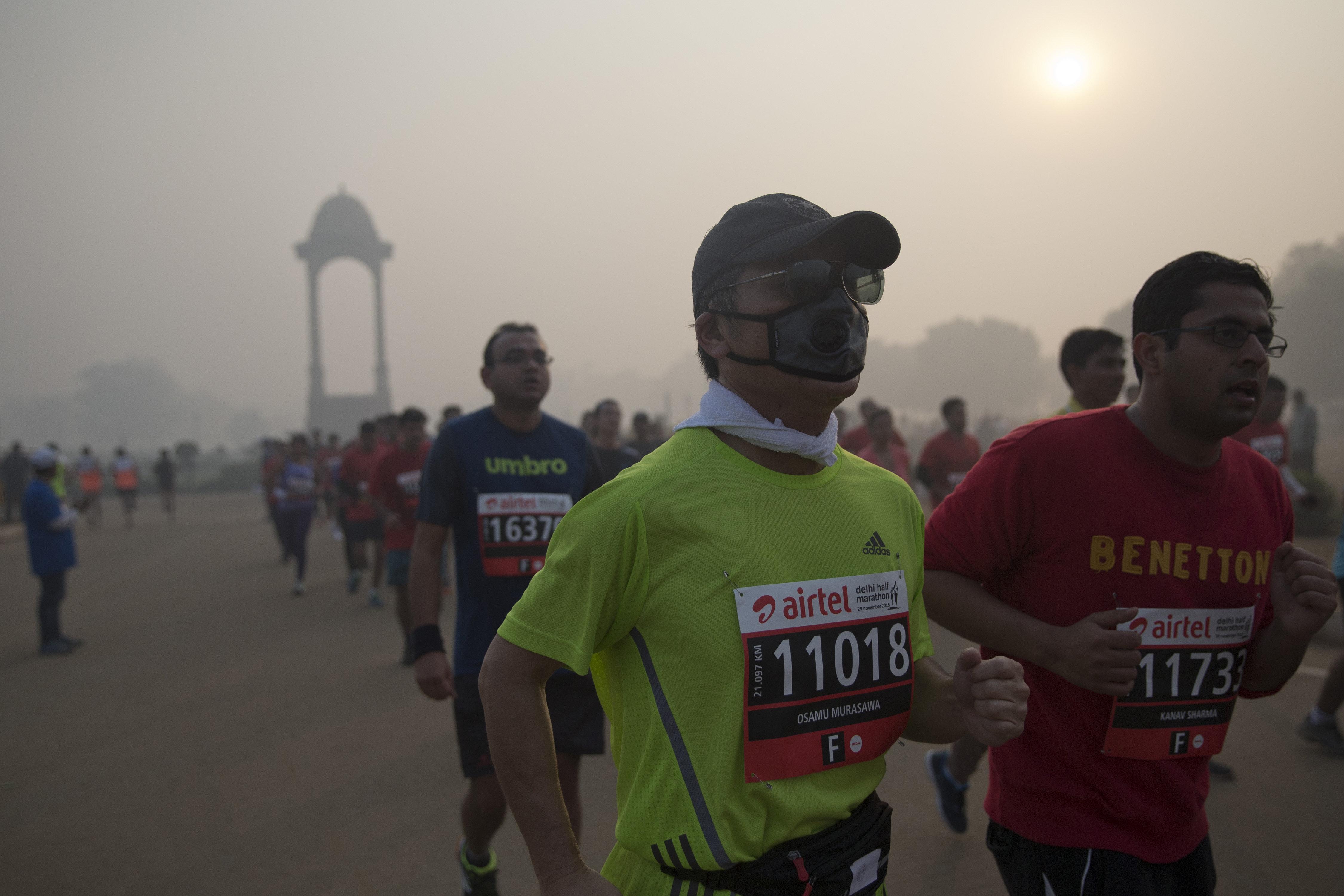 New Delhi-Smog-Air pollution-Paris