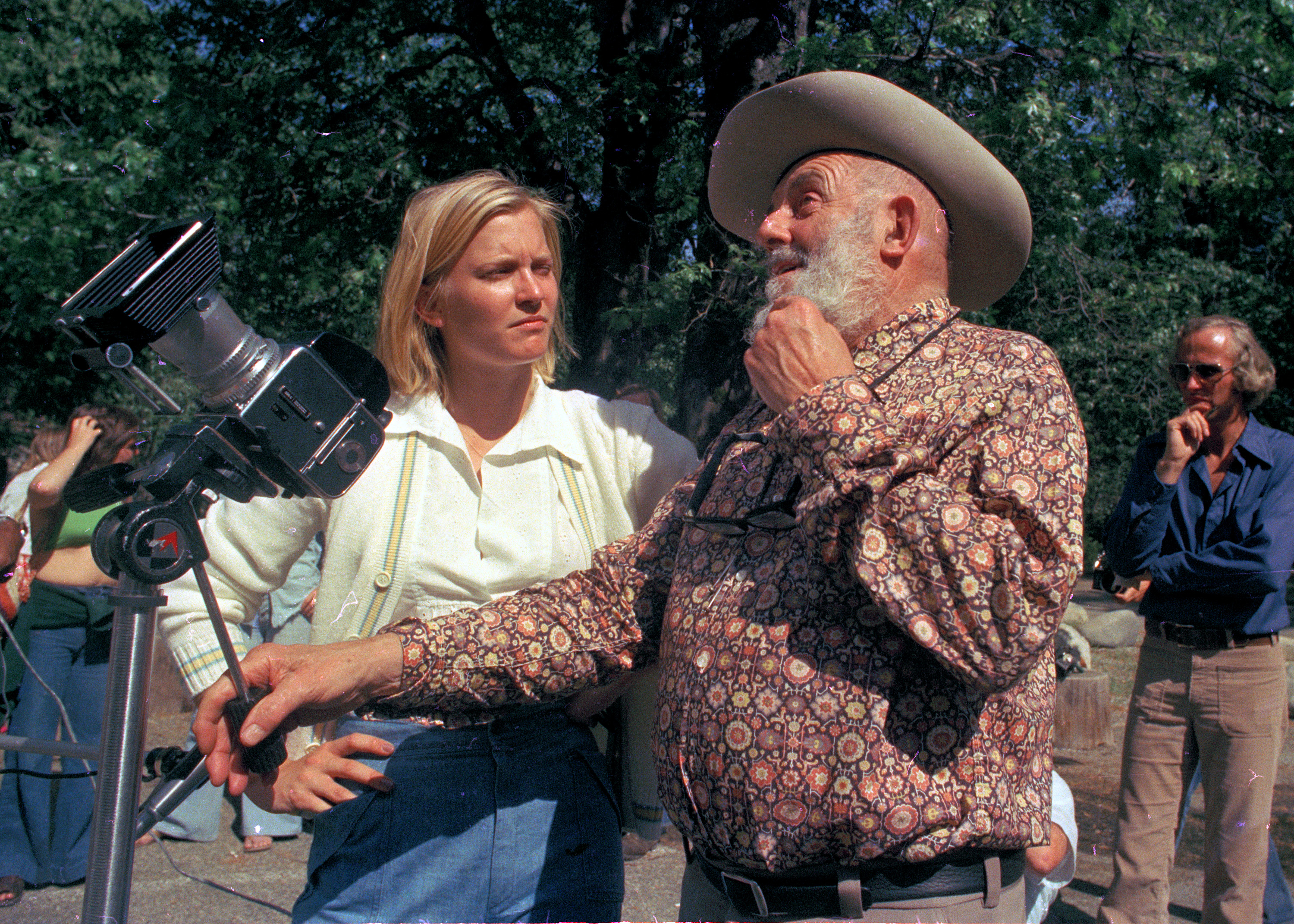 Susan Ford, daughter of President Gerald Ford, learns photography from Ansel Adams at his gallery near Yosemite National Park, June 1975.  (AP Photo)