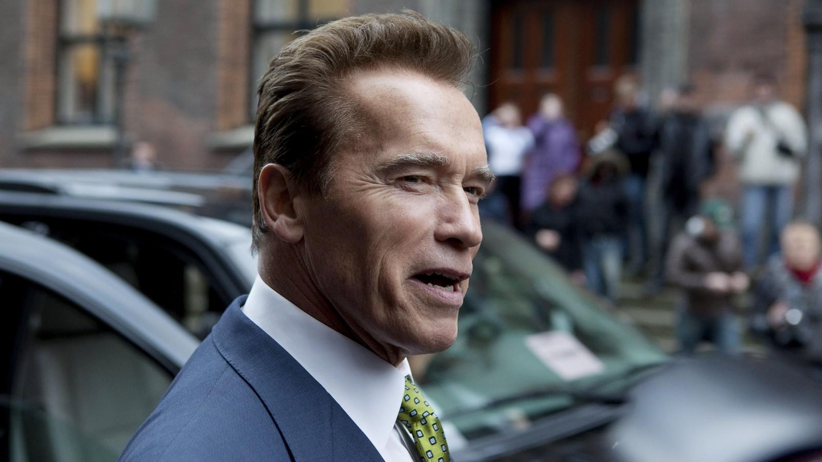 California Governor Arnold Schwarzenegger at Copenhagen.