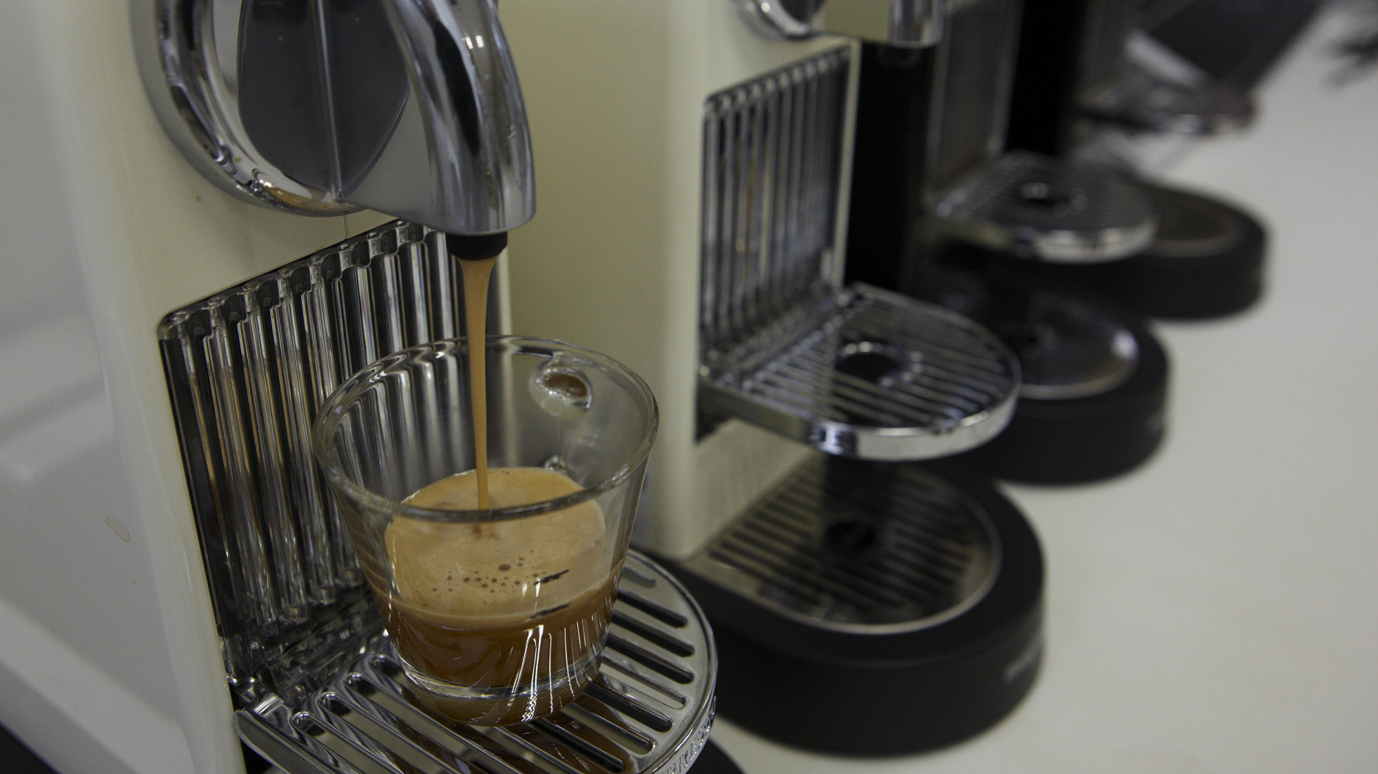 A coffee is prepared for quality control in the production facility of Ethical Coffee Company (EEC) in Ville-la-Grand in France near Switzerland border March 20, 2013.