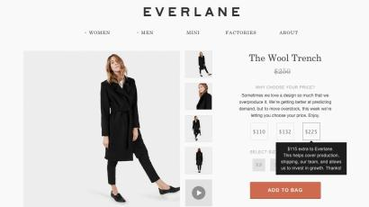 Everlane's choose-your-own-price sale