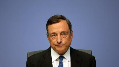 President of the European Central Bank (ECB), Mario Draghi speaks during an ECB press conference.