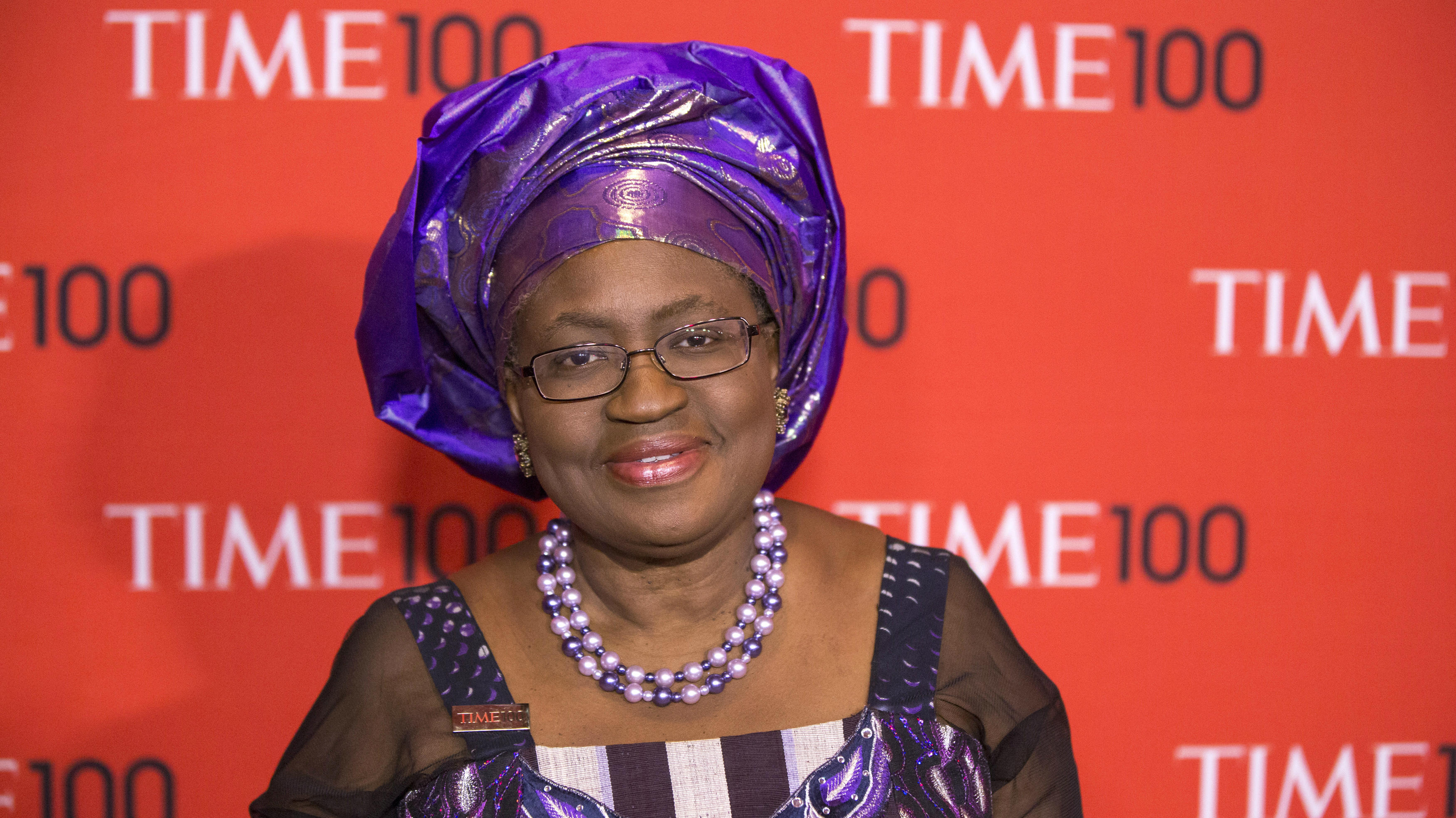 Honoree and the finance minister of Nigeria, Ngozi Okonjo-Iweala arrives at the Time 100 gala celebrating the magazine's naming of the 100 most influential people in the world for the past year in New York April 29, 2014. REUTERS/Lucas Jackson (UNITED STATES - Tags: ENTERTAINMENT BUSINESS MEDIA POLITICS)