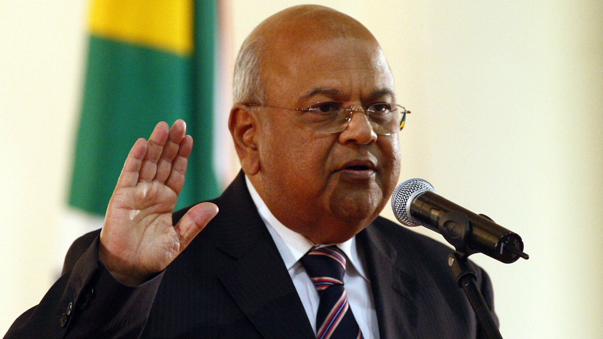 Former tax authority chief Pravin Gordhan is sworn in as finance minister replacing Trevor Manuel at the presidential guest house in Pretoria May 11, 2009. South African President Jacob Zuma's cabinet was sworn in on Monday after he had promised to help millions of poor people and comfort foreign investors who want him to keep market-friendly policies in place.