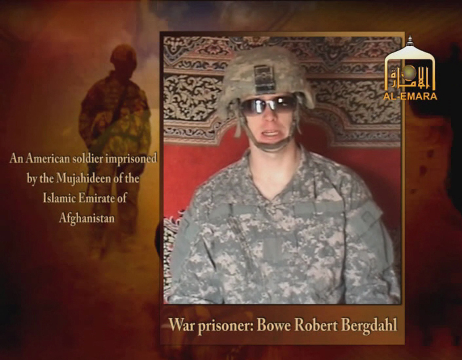 Undated image from video footage taken from a Taliban-affiliated website shows a man who says he is Private First Class Bowe R. Bergdahl, a U.S. soldier captured by the Taliban in southeastern Afghanistan in late June. The Afghan Taliban said on December 25, 2009 that they had issued a new video tape of Bergdahl and added that in it he asks his government to take part in a prisoner exchange deal. REUTERS via Reuters TV (CONFLICT CIVIL UNREST) FOR EDITORIAL USE ONLY. NOT FOR SALE FOR MARKETING OR ADVERTISING CAMPAIGNS - RTR28CBI