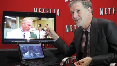 Netflix's Chief Executive Officer Reed Hastings speaks during an interview with Reuters in Buenos Aires, Argentina.