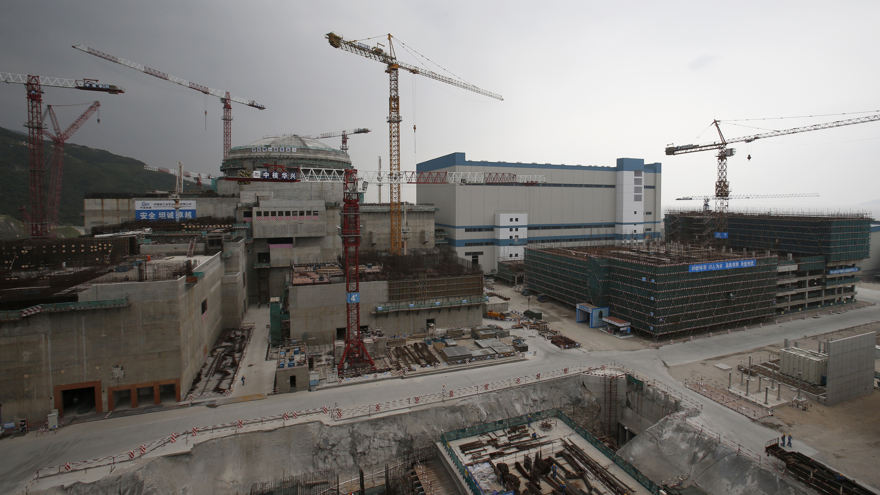 A nuclear reactor under construction in Taishan, China in 2013.