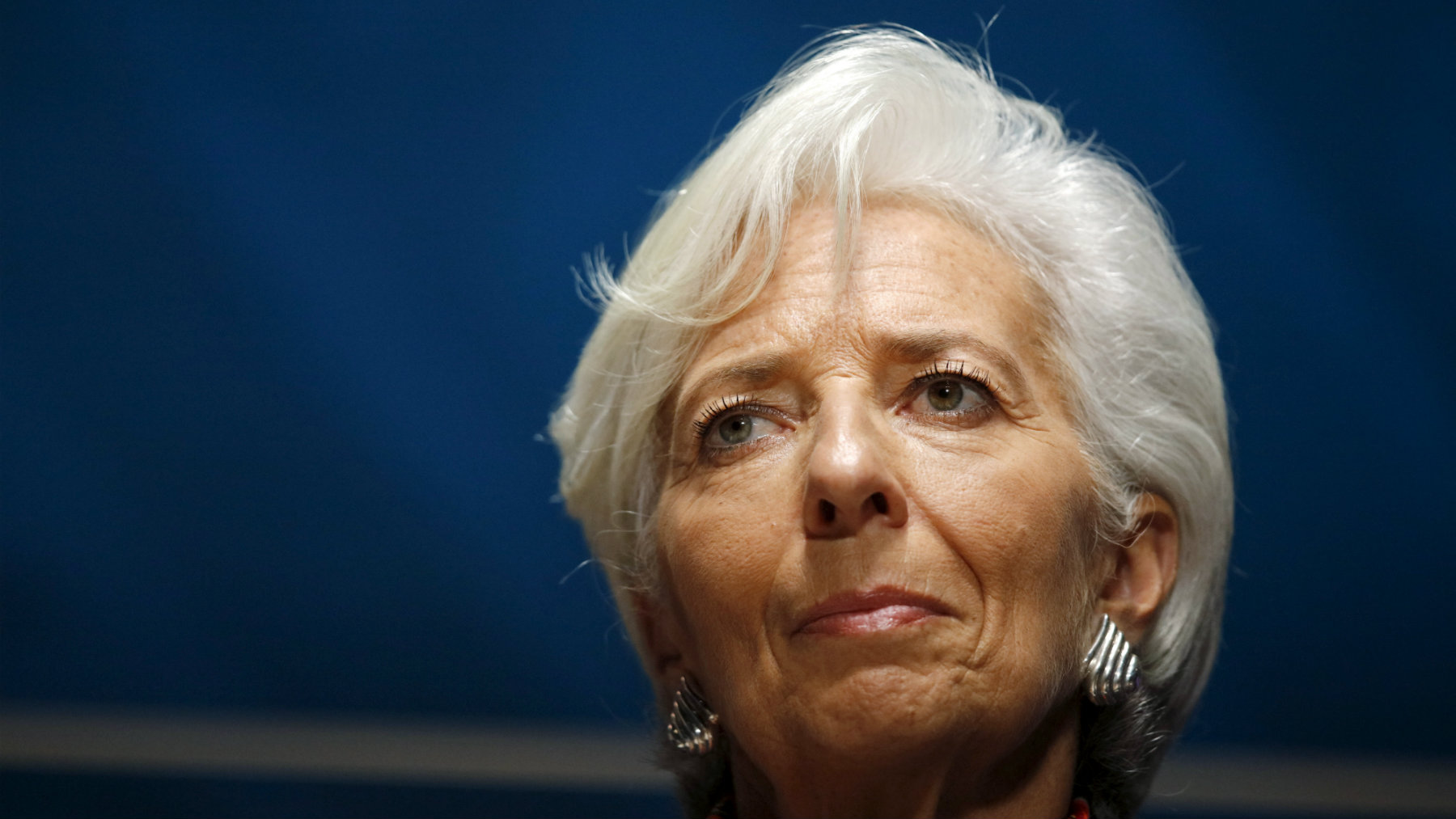 "International Monetary Fund (IMF) Managing Director Christine Lagarde attends the session ""Debate on the Global Economy"" session during the 2015 IMF/World Bank Annual Meetings in Lima, Peru, October 8, 2015. REUTERS/Guadalupe Pardo"