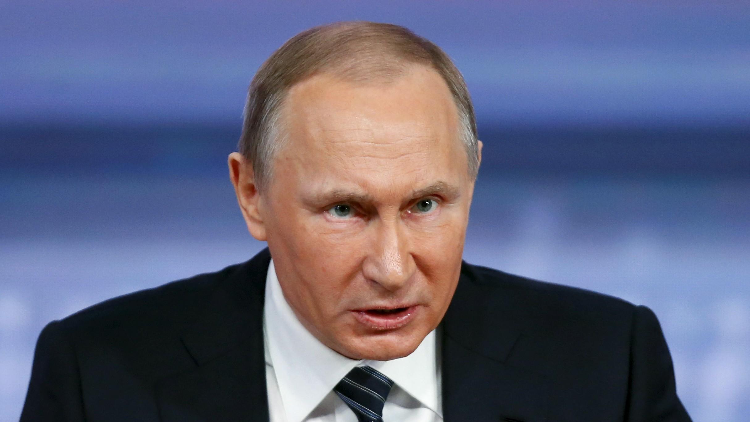 Putin at his annual press conference.