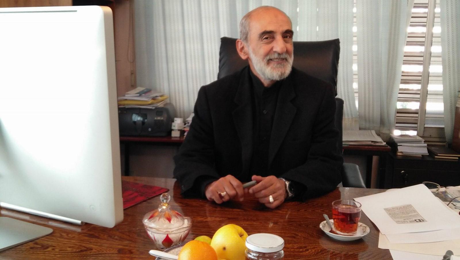 Hossein Shariatmadari, editor of Kayhan, at his office in Tehran