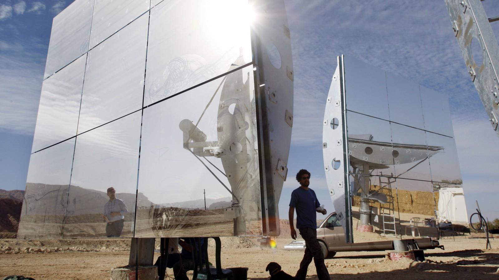 Solar power in Israel.