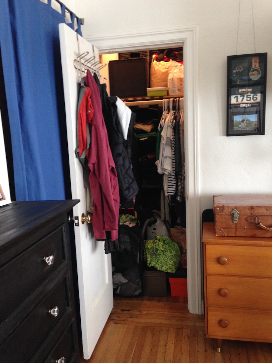 studio apartment closet