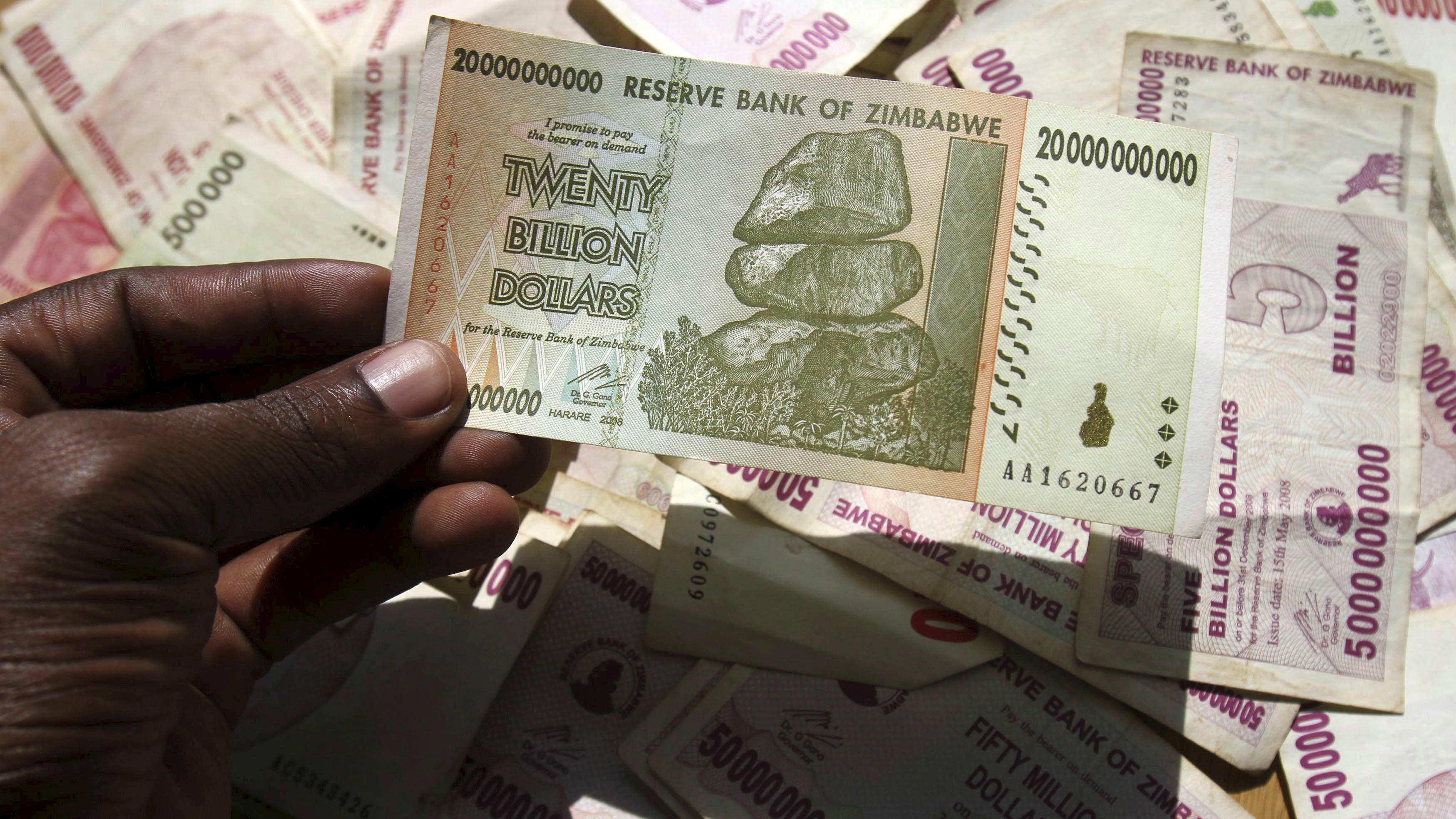 20 Zimbabwe banknotes-10 x 500k /& 50 million dollars-paper money currency