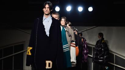 Models walk the runway during the Raf Simons Menswear Fall/Winter 2016-2017 show as part of Paris Fashion Week on January 20, 2016 in Paris, France.