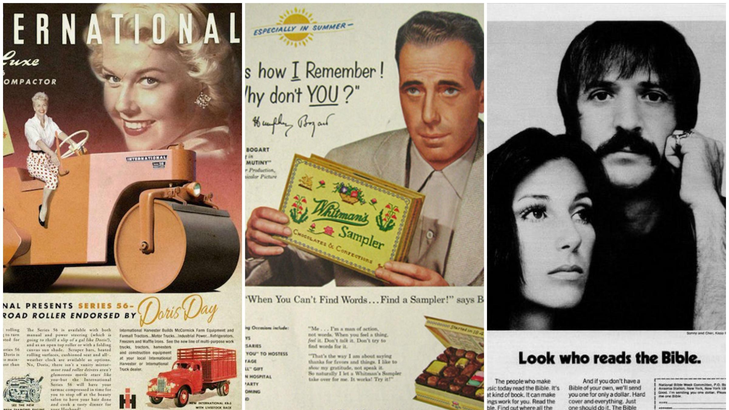 Vintage ad collage