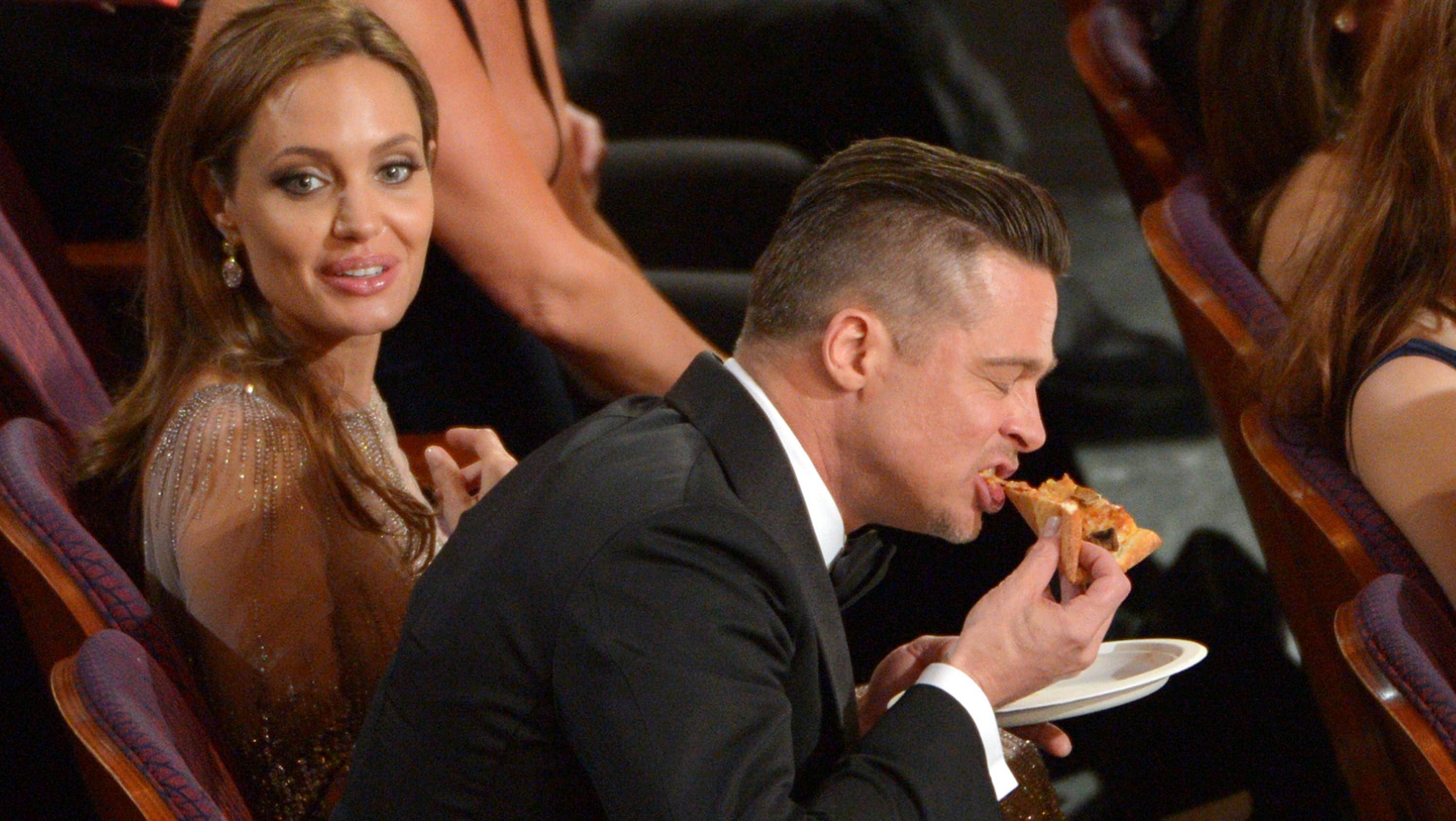 Angelina Jolie, Brad Pitt pizza