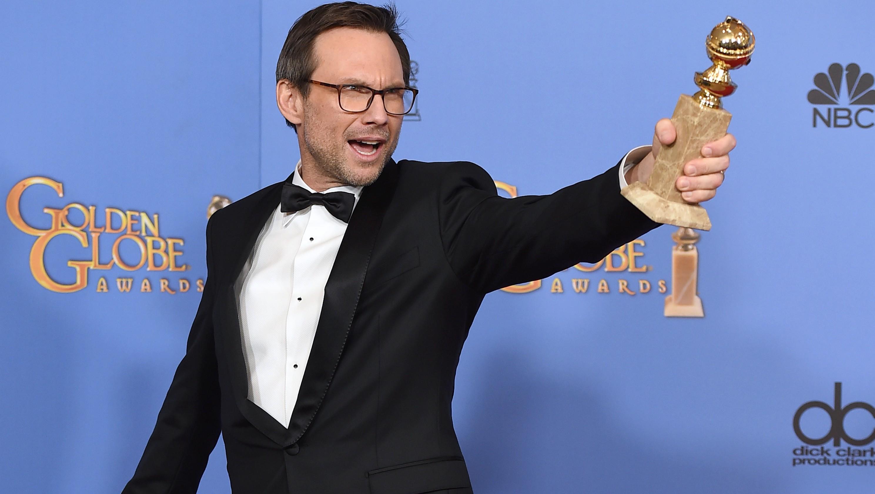 Christian Slater Mr. Robot Golden Globes