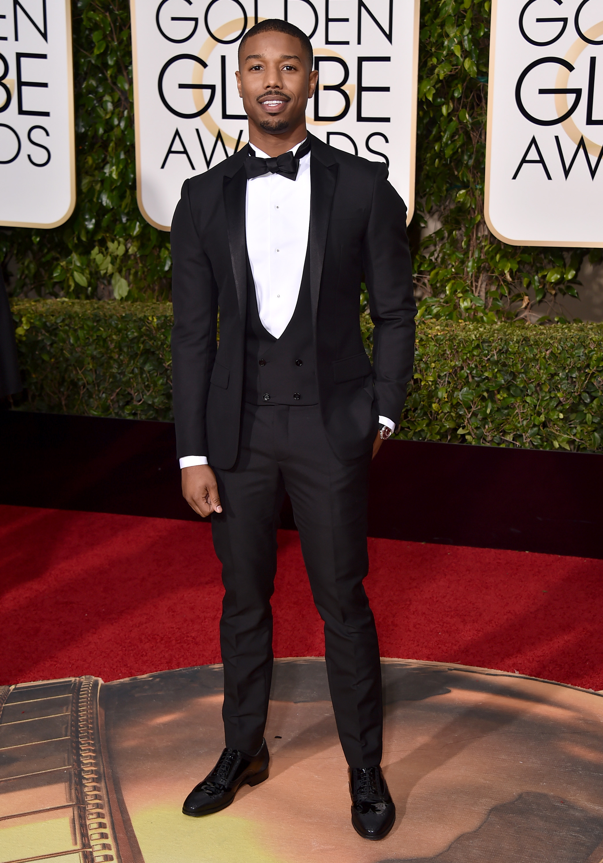 Michael B. Jordan arrives at the 73rd annual Golden Globe Awards on Sunday, Jan. 10, 2016, at the Beverly Hilton Hotel in Beverly Hills, Calif. (Photo by Jordan Strauss/Invision/AP)