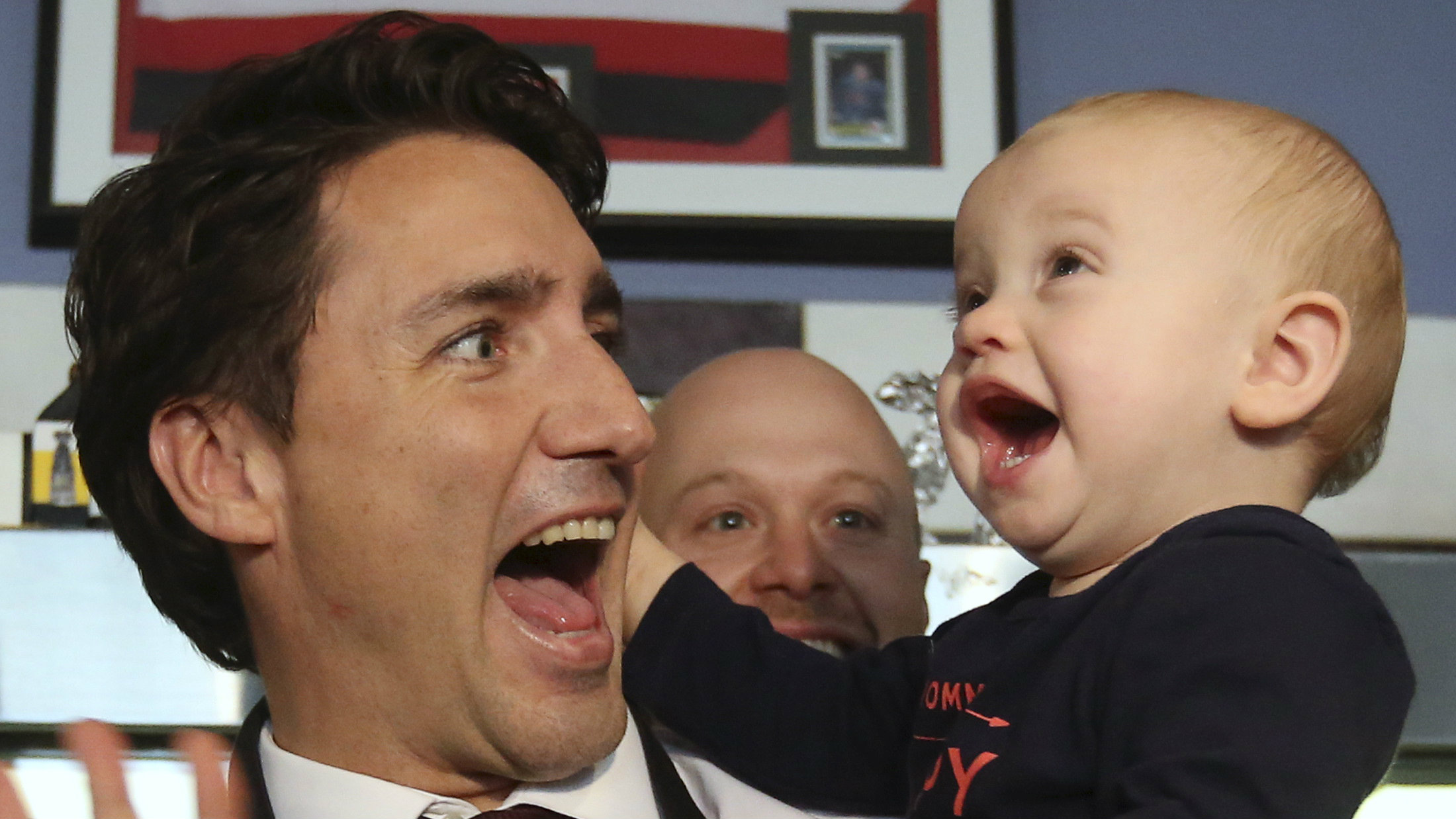baby and justin trudeau