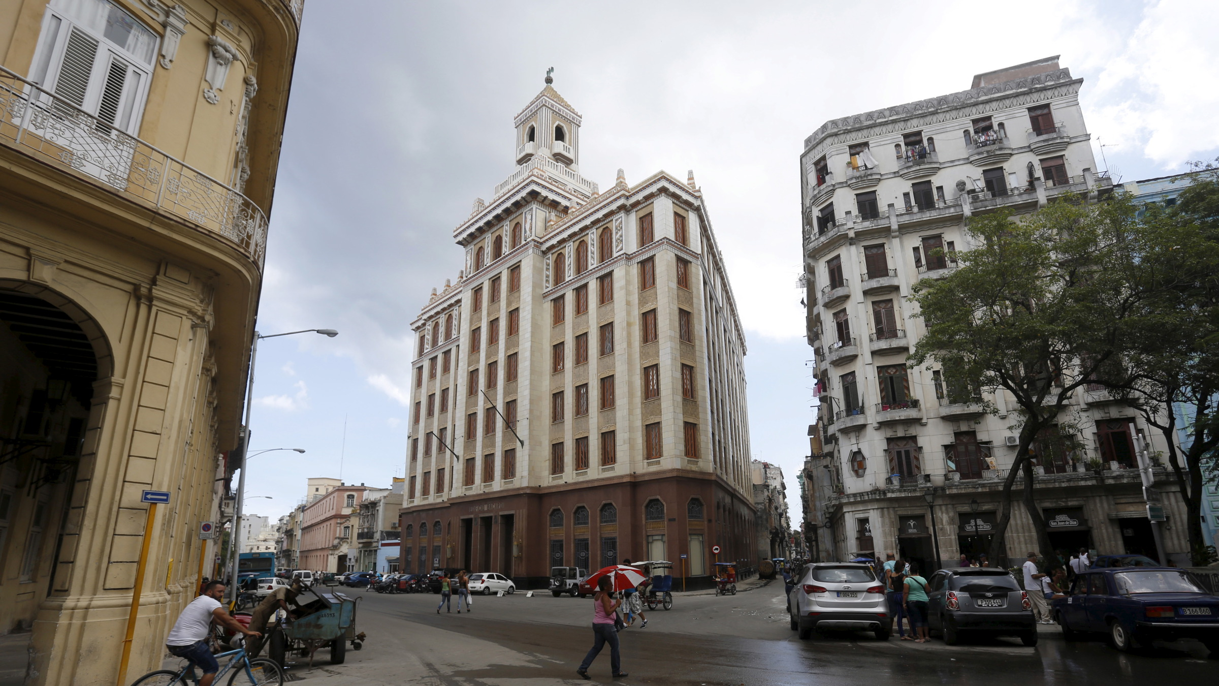 "The Bacardi building (C) formerly used as the headquarters of the company is seen in Havana September 18, 2015. The Obama administration announced wide-ranging new rules on Friday to further ease trade, travel and investment restrictions with Cuba, the latest effort to chip away at the long-standing U.S. economic embargo amid a thaw between the former Cold War foes. Bacardi, the largest privately held spirits maker in the world, was among the most successful companies in Cuba before its Cuban assets were seized by the government and its founders exiled in the 1960s. The company said on Friday it was ""way too early"" to talk about any possible return to the island. ""We will need to wait and see what the impacts are,"" Bacardi said in a statement."