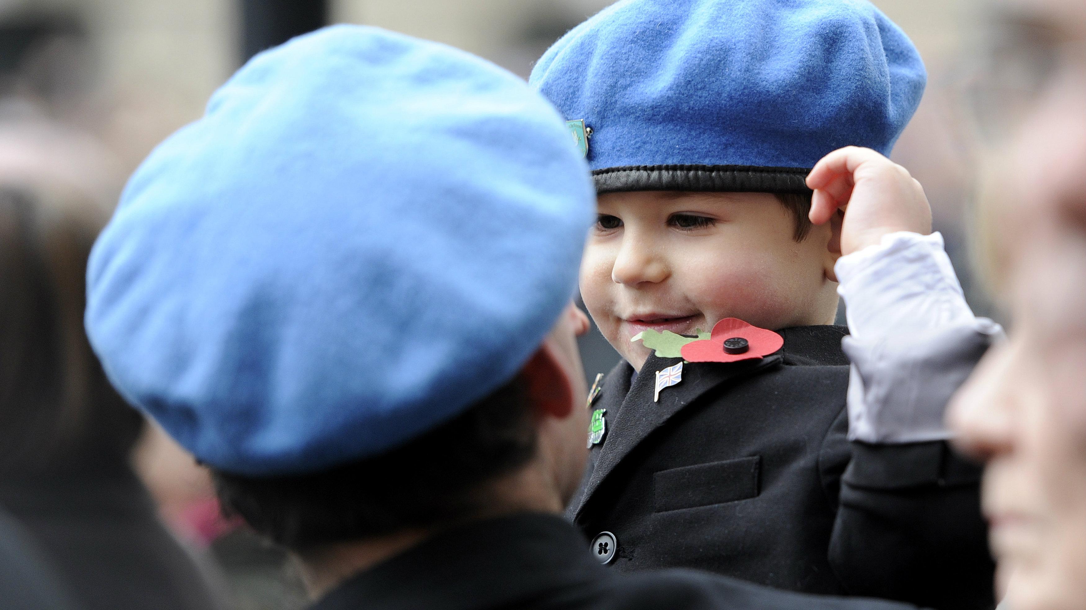 child wearing a beret