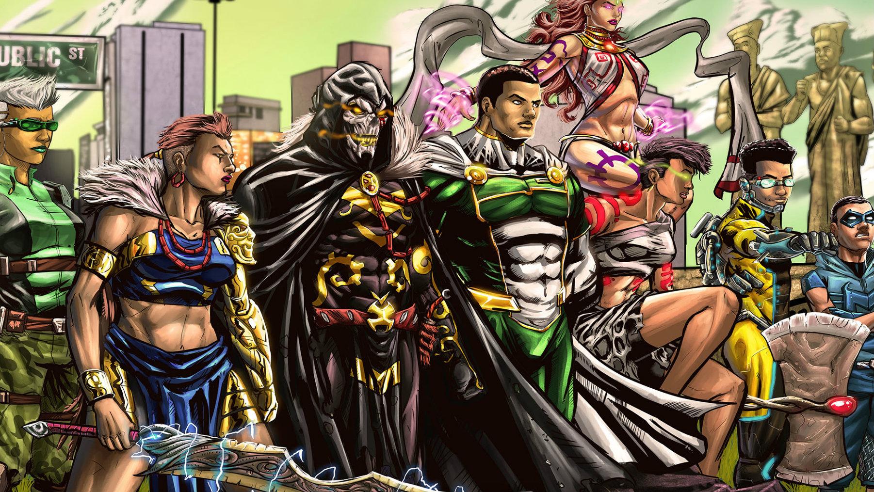 A nigerian comics startup is creating african superheroes quartz - Image super heros fille ...